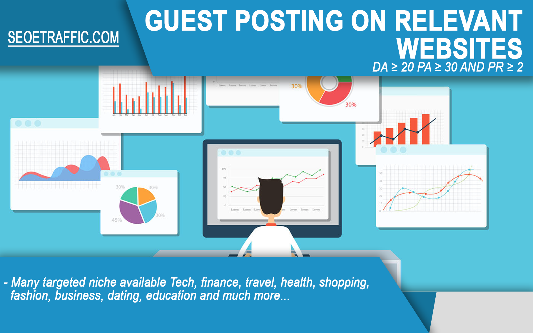 Write and Publish guest post article on relevant wesites DA20+