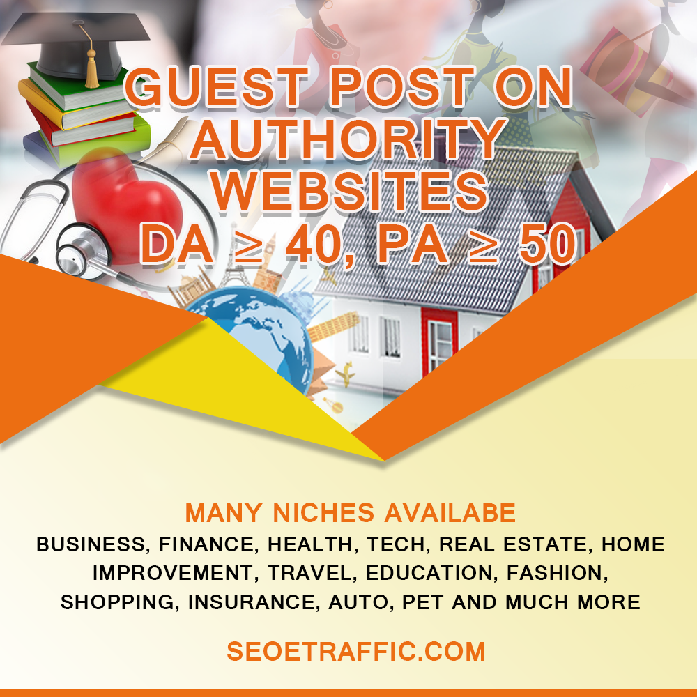 Content: Write and Publish guest post article on Authority
